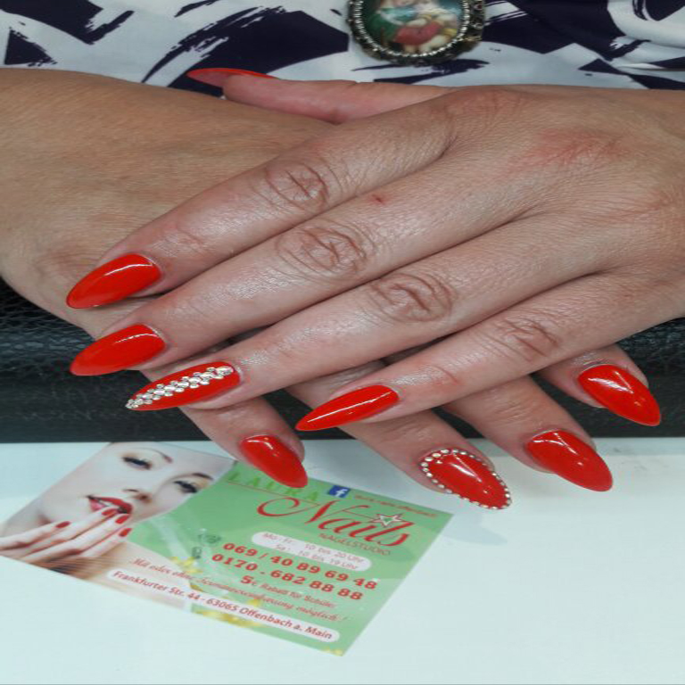 French, Nails, Nagel, Nageldesign, Piercing, Glitter, Gel