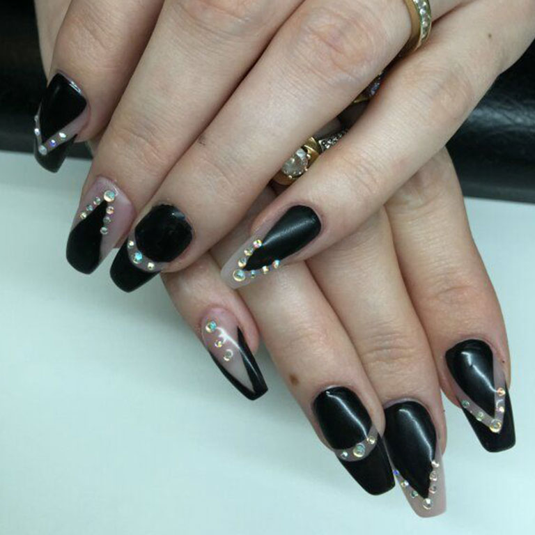Nails, Nagel, Nageldesign, Gel, Steinchen, Airbrush
