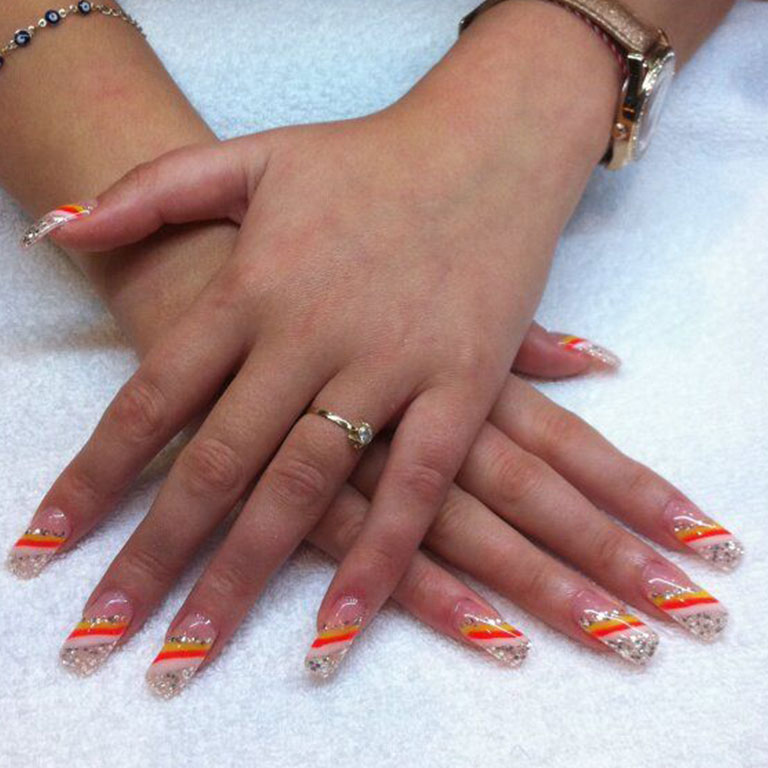 Nails, Nagel, Nageldesign, Gel, Steinchen, Dream, Airbrush
