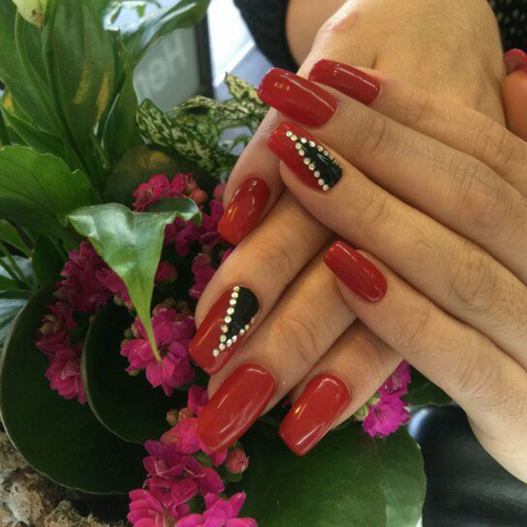 Nails, Nagel, Nageldesign, Glitter, Gel, Steinchen, Airbrush